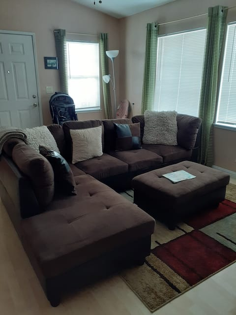 A cozy couch to rest