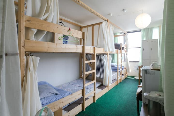 Keihan Uji st. 3min (JR 5min) female domitory room