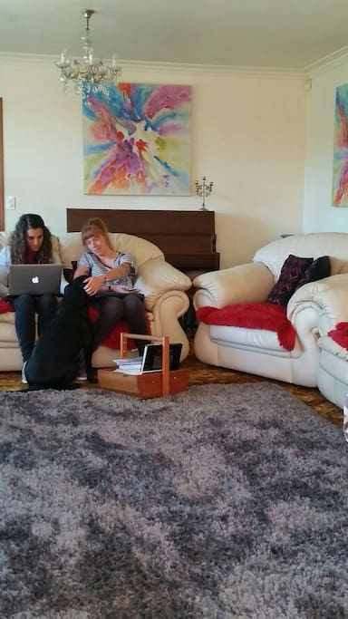 Guests relaxing in the lounge