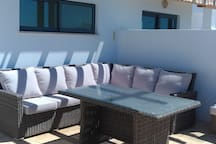 Seating, and lounging on the roof top terrace