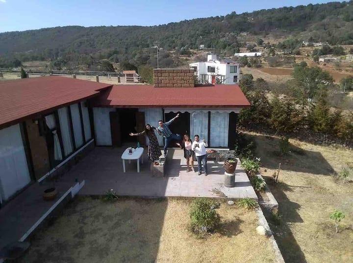 Confortable cabaña en Amealco Querétaro