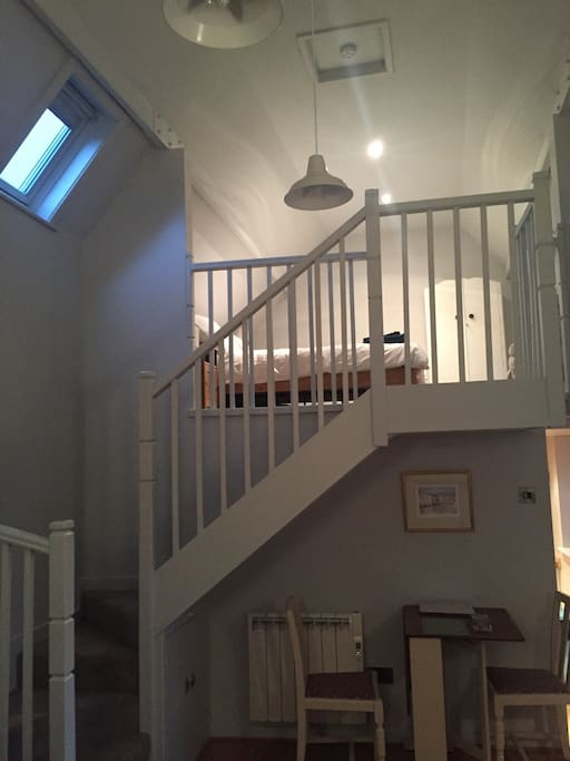 Stairs leading to the mezzanine bedroom