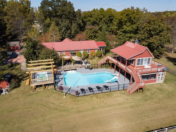 Morning Star Ranch-Heated Pool/Close to Nashville