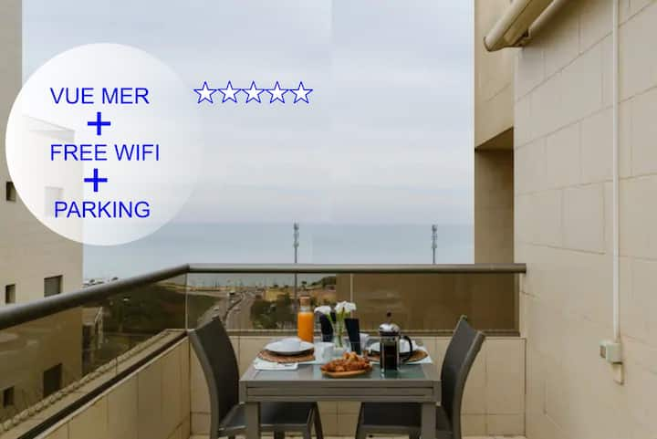 SPACIEUX SEA VIEW APPART+FREE WIFI + PARKING *****