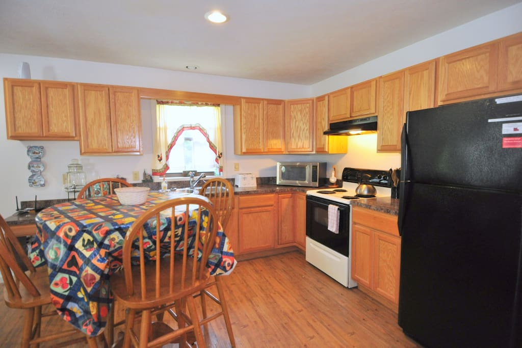 The fully equipped kitchen should have everything you need to prepare a meal.