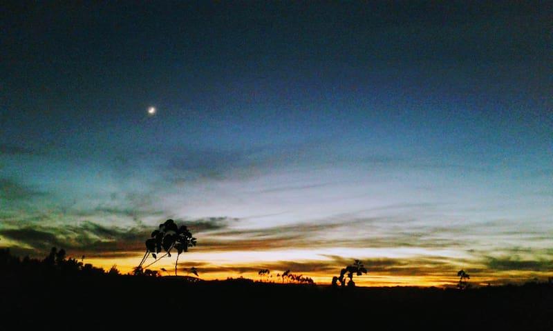the sunset from the veranda