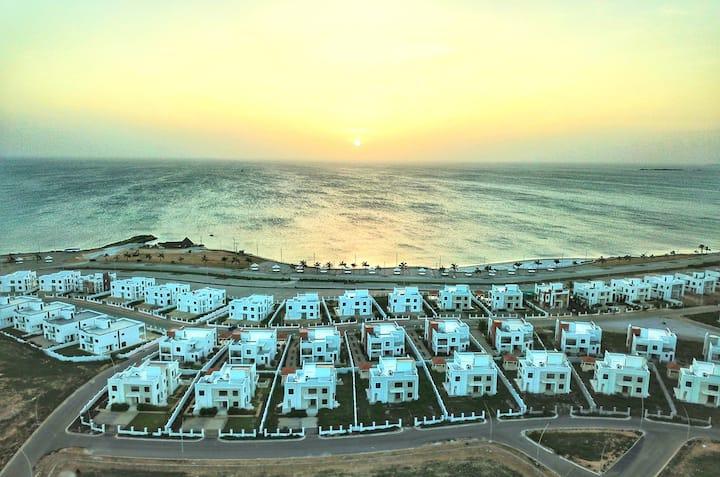 Sea view villa with beautiful sunset views...