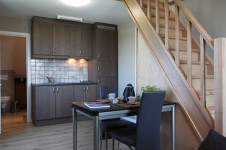 cozy well-furnished holiday apartment for 2 people.  4 persons can sleep here if using a sofa bed.  The apartment is located on the second floor.