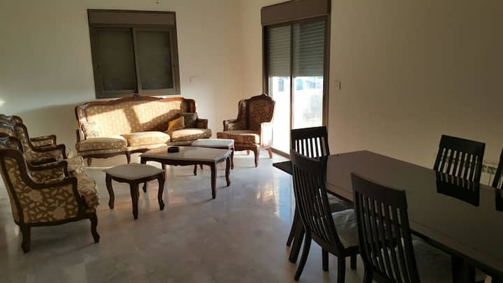 New and furnished flat, 3 rooms, Aajaltoun