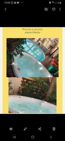 Casa piscina é jacuzzi