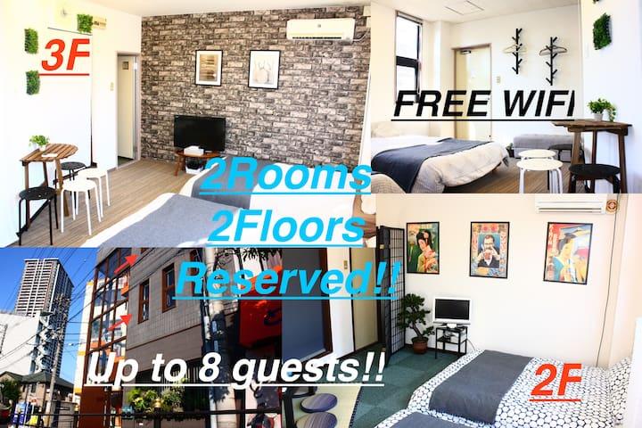 8minNanba,6minOsaka,4minUSJ,2,3rd floorallreserved