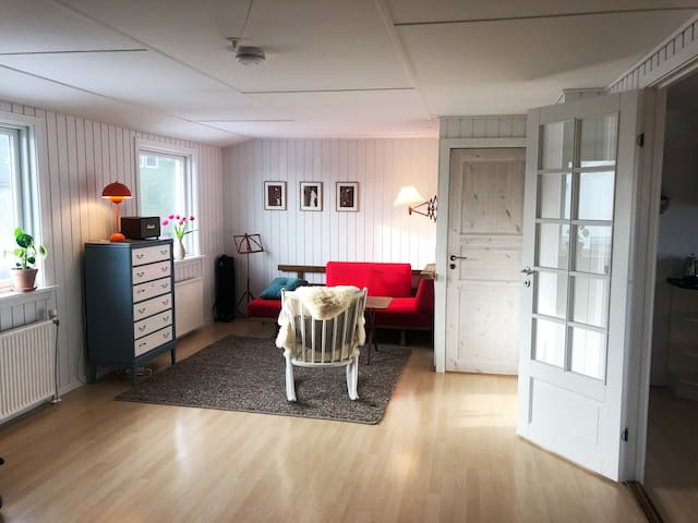 Thorshavn penthouse on quiet road with a view