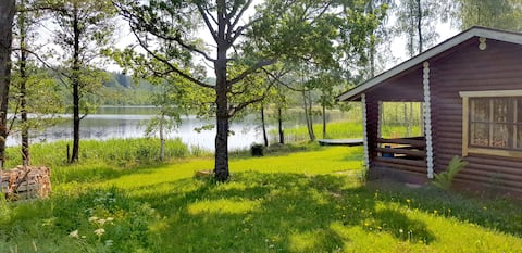 Traditional Finnish cottage by the lake