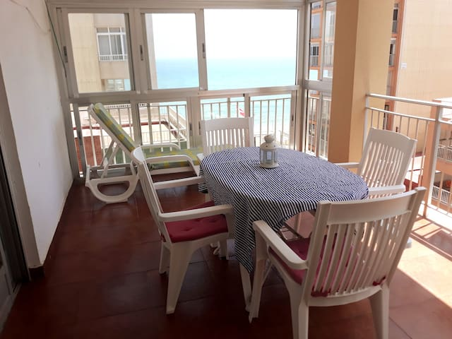 Enjoy Apt outside at 50 m beach, big terrace