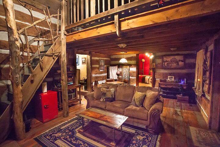 Comfortable Lounge area inside the main cabin!