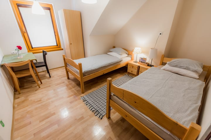 Hostel Kozmus - Twin Room with Shared Bathroom