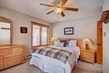 Main level queen bedroom.