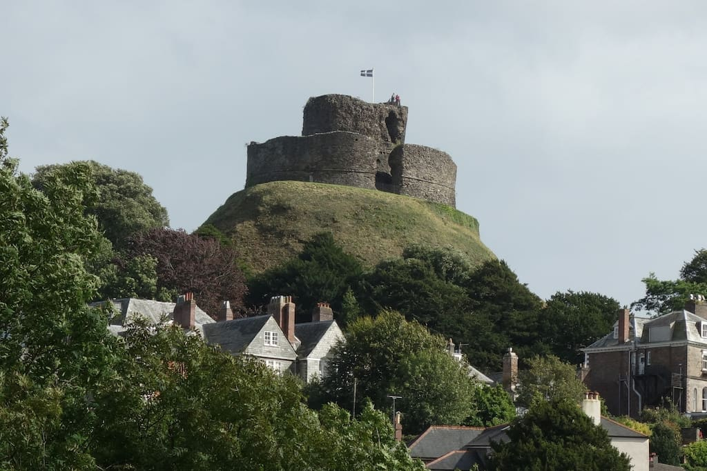 Launceston Castle from our home