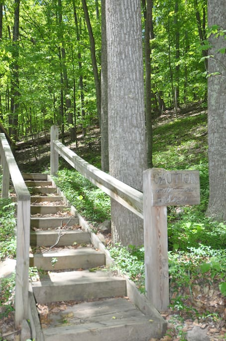Take the stairway to some hard-earned R&R...