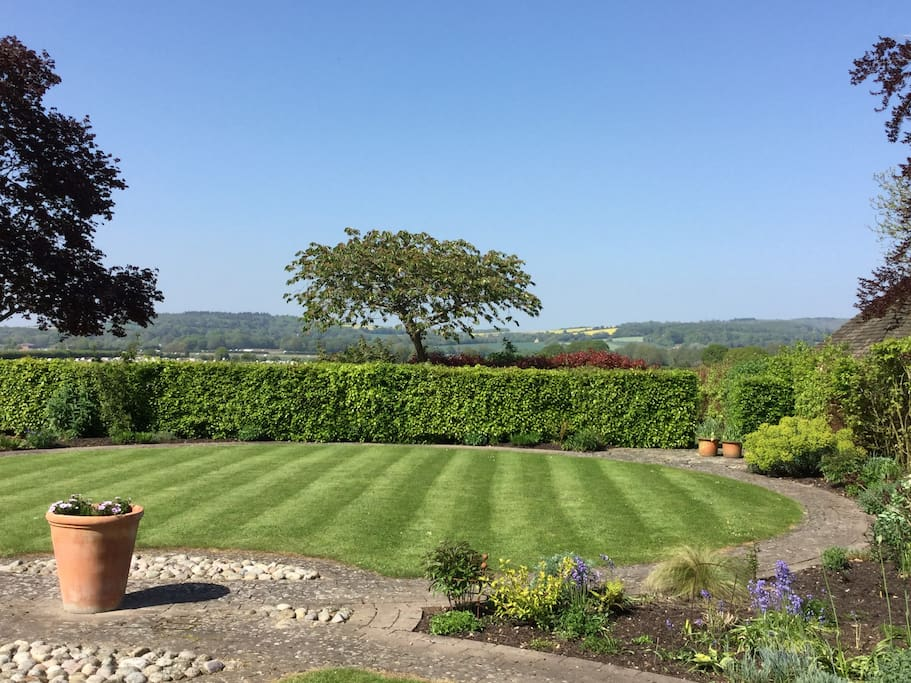 View of garden and South Downs