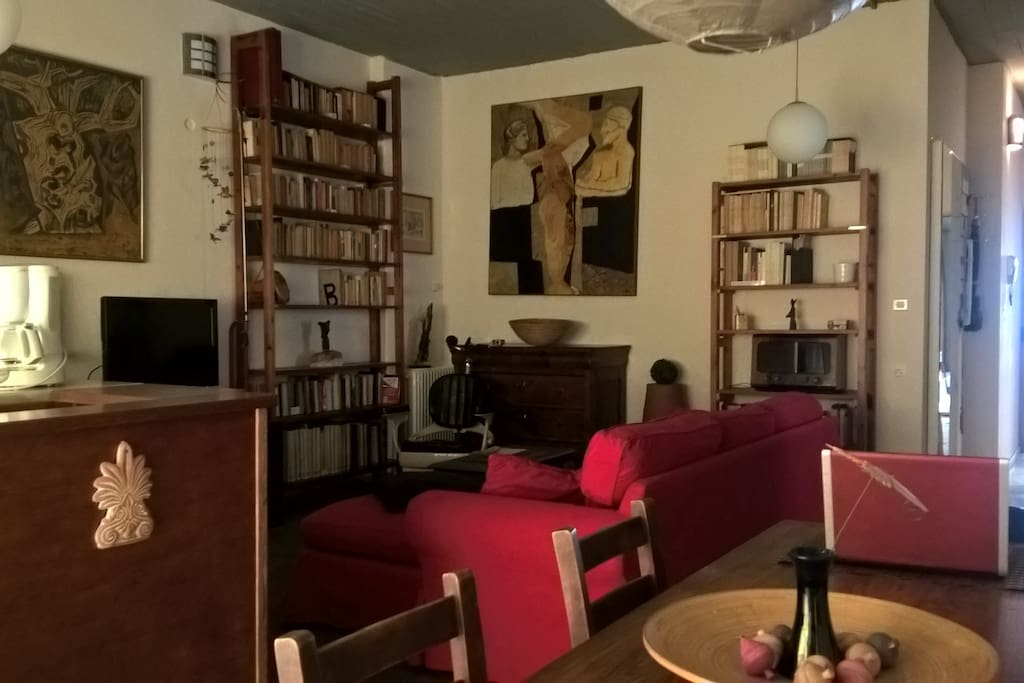 livingroom, some music or TV or even read a book...