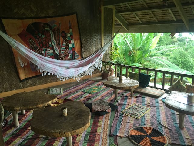 overlooking Jungle bar resto & Hut
