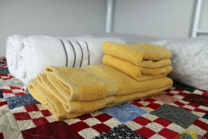 Fresh, plush towels for your use