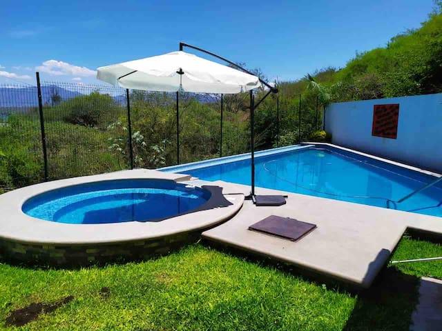2 Bungalow en casa alberca privada Tequesquitengo
