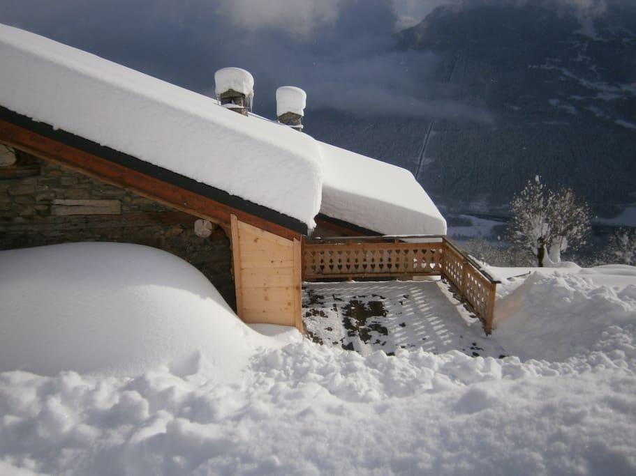 Sous la neige à 1200m d'altitude