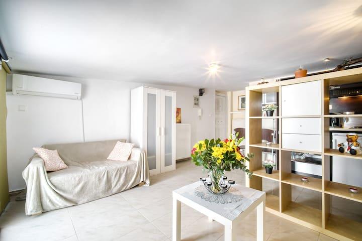 Sunny cozy attic with amazing view