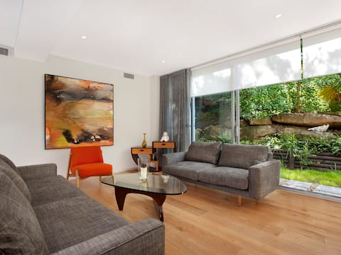 Bungalow ground floor apartment with outdoor deck