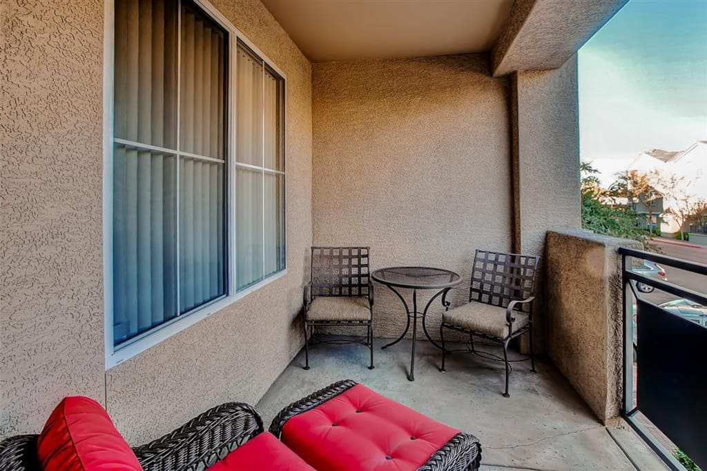 Relish in the balmy weather from the comfort of your own private balcony.