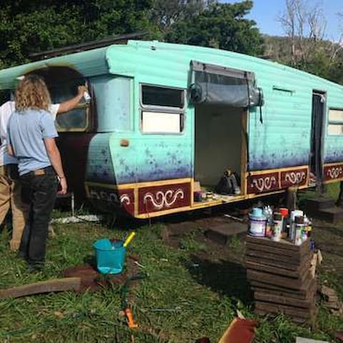 Serenity Gypsy Wagon Forest Bathing