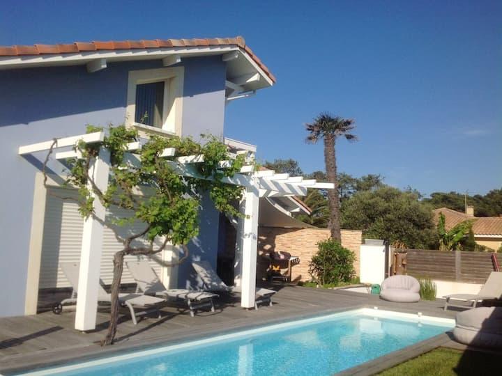 Villa de 4 chambres à Capbreton, avec magnifique vue sur la ville, piscine privée, jardin clos - à 150 m de la plage