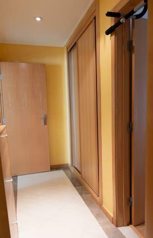 Bathroom and bedroom hall