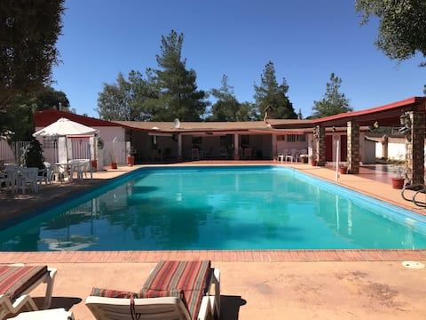 A Beautiful Spacious home with a private pool