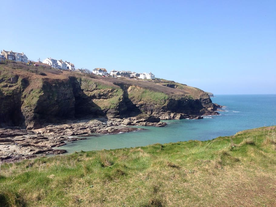 View from cliff path