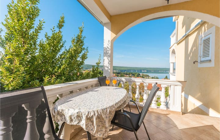 Stunning apartment in Gornji Karin with WiFi and 1 Bedrooms