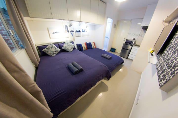 HD2. 3pax TST MTR COZY Apartment