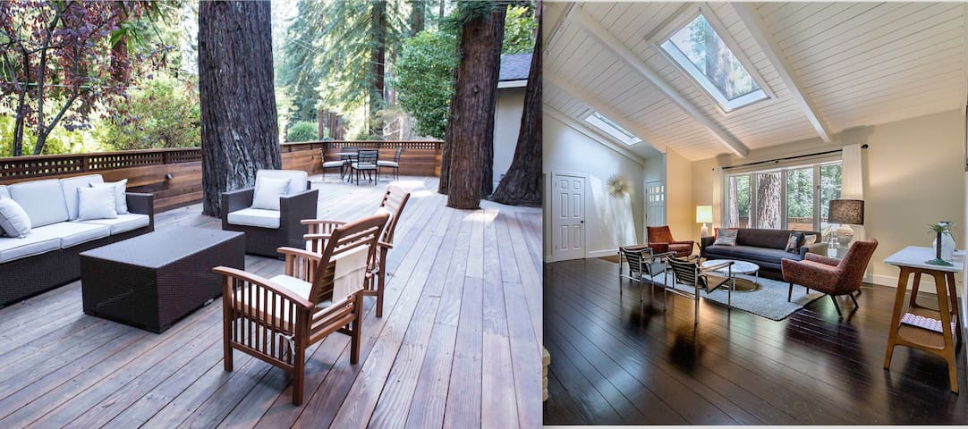 MidCentury Home In The Redwoods and 15 mins to SF - Mill Valley - House