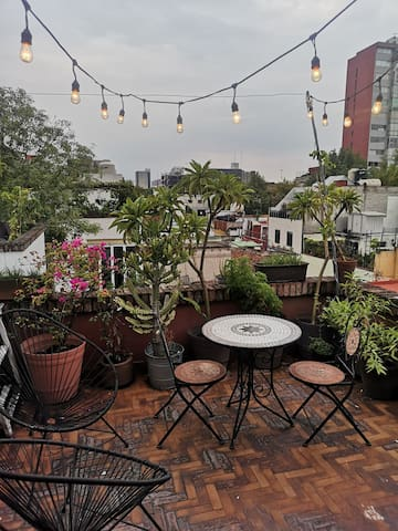 Suite with amazing terrace in Condesa