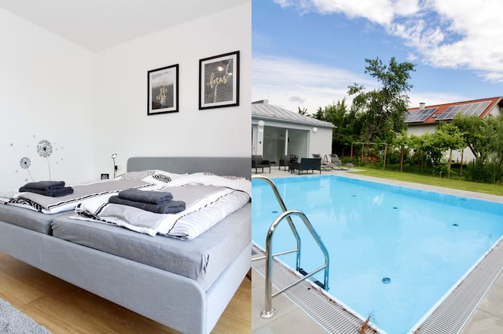 """Balcony/Pool/Modern close to Lake in """"Donaustadt"""""""