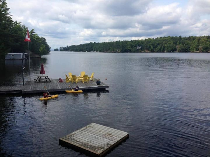 Browning Island on Lake Muskoka with a fabulous beach!