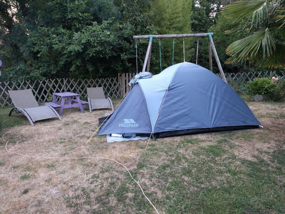 Tente D Me Quip E Dans Jardin Au Calme Tentes Louer Mouzillon Pays De La Loire France
