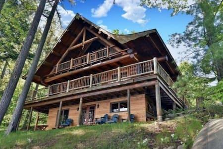 Handcrafted Scandinavian Style Log Home