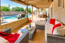 Relax in the shade while spending a day by the pool!<br>Relax on the patio while watching the kids play!<br>