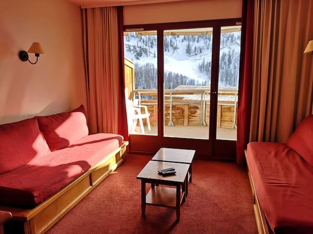 Appartement 3/4 personnes au Hameau à Isola 2000.