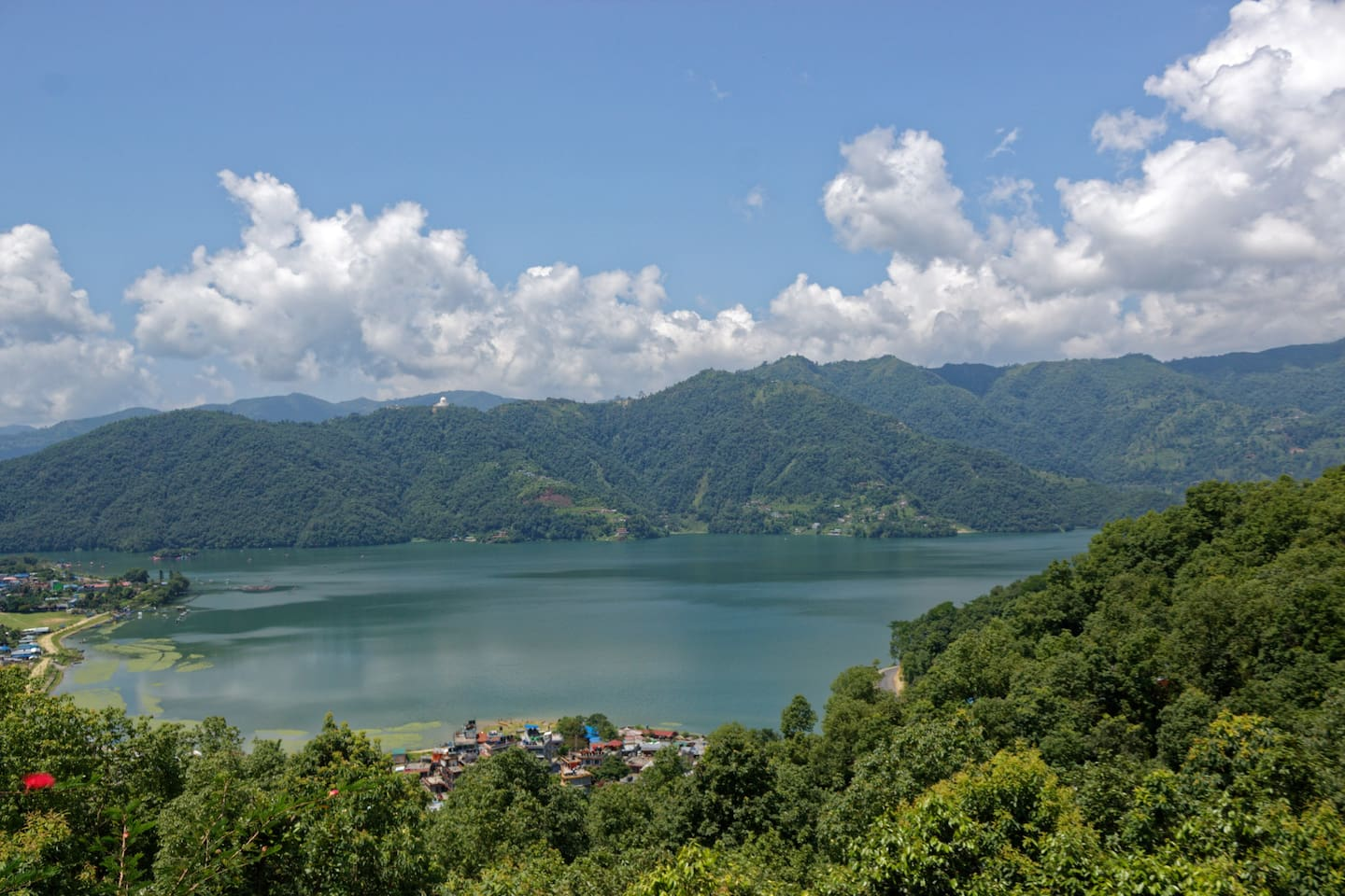 Phewa Lake as seen from the Castle Resort