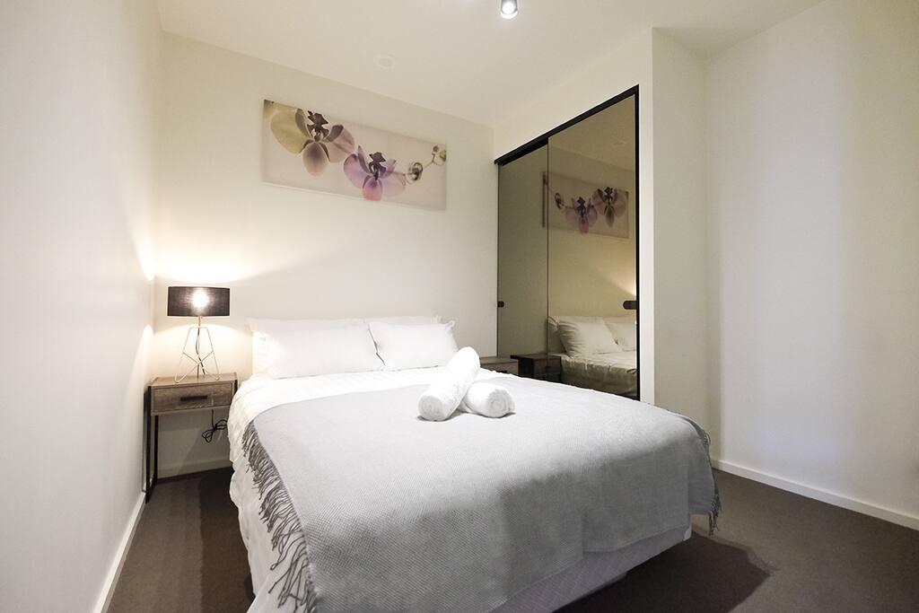 Quiet bedroom.