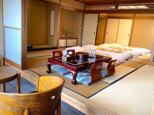 热海隐里,303室,热海车站7分钟,洋室,WIFI,天然温泉大浴场,含早餐